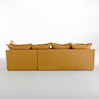 Canapé d'angle fixe en lin froissé,  bultex Odna La Redoute Interieurs