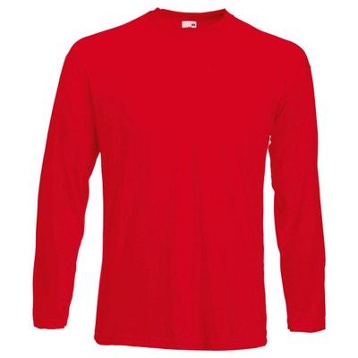 Tee shirt blanc avec couleur rouge en solde   La Redoute e038c0643033