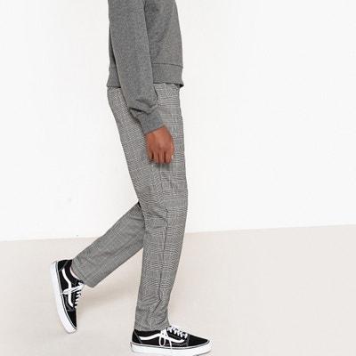 Pantalon zippé à carreaux 10-16 ans Pantalon zippé à carreaux 10-16 ans La Redoute Collections