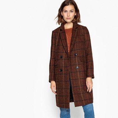 Lange mantel met geruite print, voor de winter Lange mantel met geruite print, voor de winter SEE U SOON