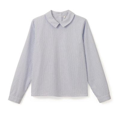 Gestreept hemd met knopen op de rug 10-16 jr La Redoute Collections