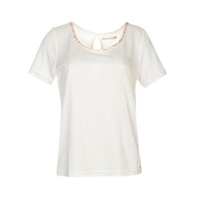 T-Shirt, Perlen am Ausschnitt LPB WOMAN
