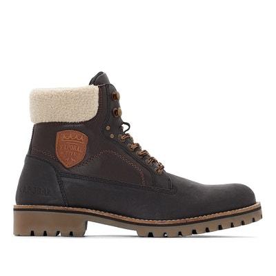 Boots cuir hunter   noir Kaporal   La Redoute
