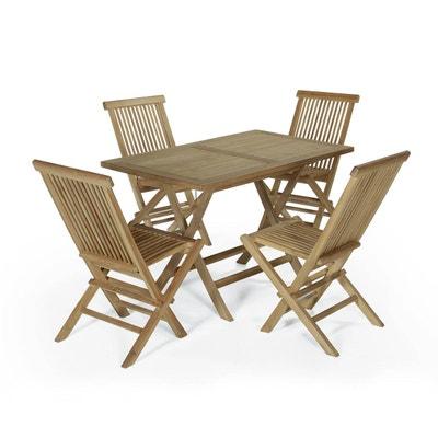 Table et chaise en teck | La Redoute