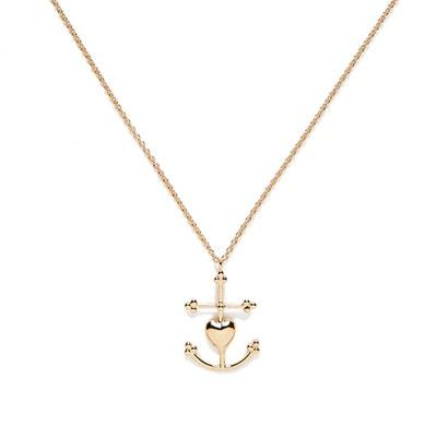 Collier en Vermeil Grande Croix de Camargue AGNES DE VERNEUIL 9478af76636