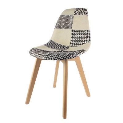 chaise scandinave patchwork noir et blanc decoratie - Chaises Scandinave Pas Cher
