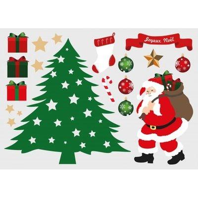 Sticker Noël : Planche Déco sapin Sticker Noël : Planche Déco sapin DECOLOOPIO