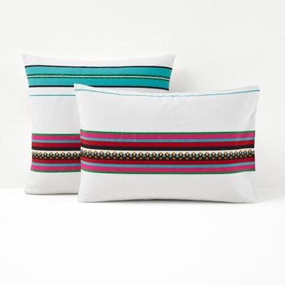 Nazca White Printed Single Pillowcase La Redoute Interieurs