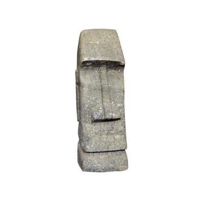 Statue Tiki basanite  - hauteur 150 cm. - Pierre naturelle HABITAT ET JARDIN