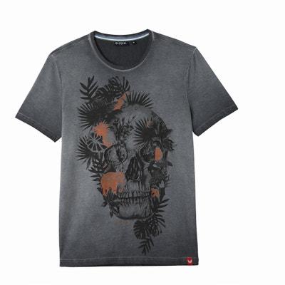 Halir Crew Neck Skull Print T-Shirt Halir Crew Neck Skull Print T-Shirt KAPORAL 5