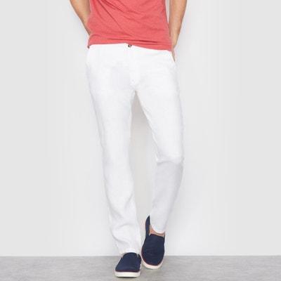 Pantalón de lino, corte recto Pantalón de lino, corte recto La Redoute Collections