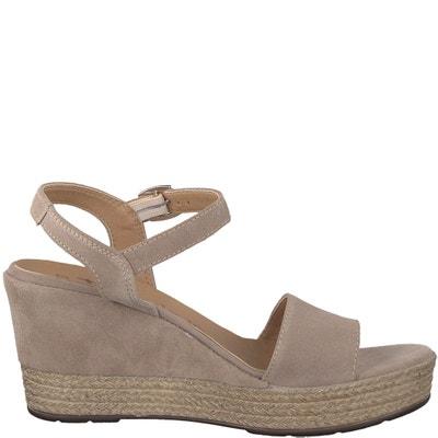 Vivana Leather Wedge Sandals TAMARIS