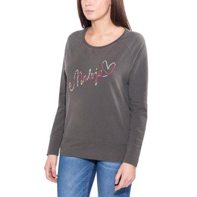 6d833ddcc3fe T-shirt manches longues Femme - gris CullyM. - T-. MALOJA