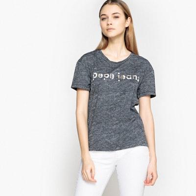 T-Shirt mit Rundhalsausschnitt, uni T-Shirt mit Rundhalsausschnitt, uni PEPE JEANS