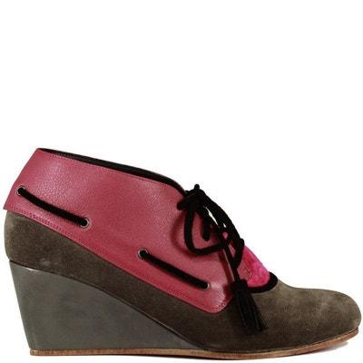 Chaussures femme en cuir CORDEL Grey - red Chaussures femme en cuir CORDEL  Grey - red. PRING PARIS a7e3c73d1733