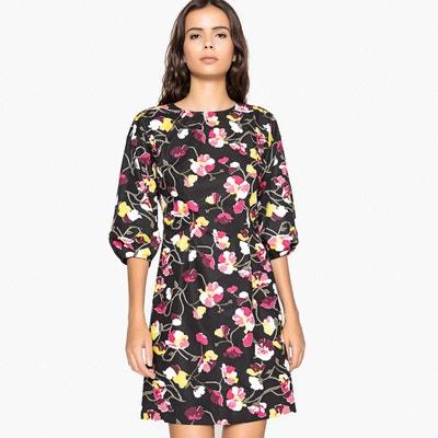 1eacdb748e493 Robe imprimée fleurs, effet enduit Robe imprimée fleurs, effet enduit LA  REDOUTE COLLECTIONS