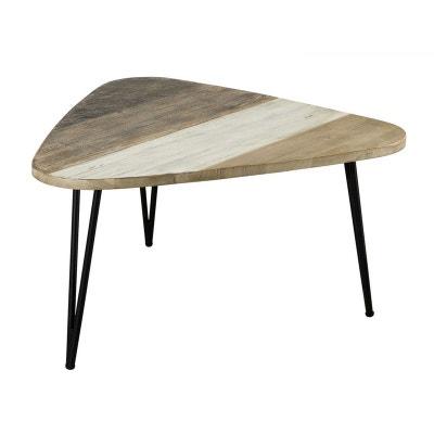 Table basse scandinave triangulaire en bois CADIX PIER IMPORT