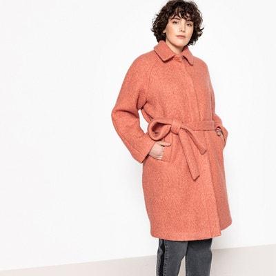 Płaszcz półdługi z paskiem, 51% wełna Płaszcz półdługi z paskiem, 51% wełna CASTALUNA