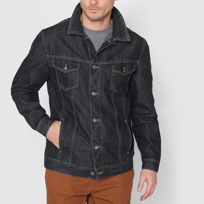 Veste en jean grande taille coupe droite Veste en jean grande taille coupe droite CASTALUNA FOR MEN