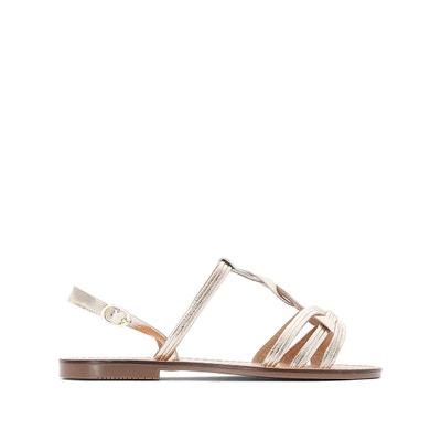 Sandales cuir métallisées bride tressée Sandales cuir métallisées bride tressée LA REDOUTE COLLECTIONS