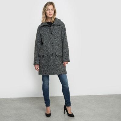 Abrigo de rizo en tejido tweed Abrigo de rizo en tejido tweed La Redoute Collections