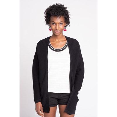 Long cardigan noir en solde   La Redoute dafecb0e686c