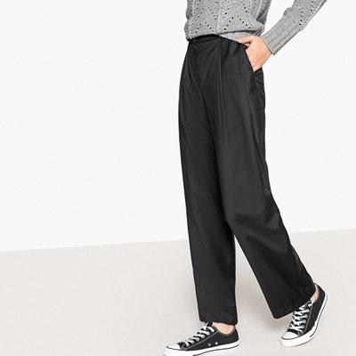 Pantalon large à plis en polyester laine Pantalon large à plis en polyester laine LA REDOUTE COLLECTIONS