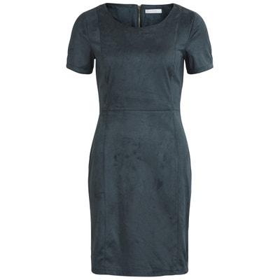 Faux Suede Bodycon Dress VILA