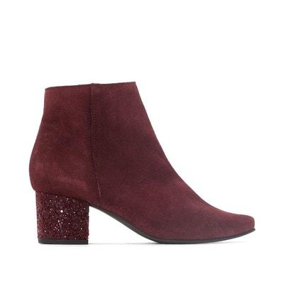 Boots cuir talon paillettes La Redoute Collections