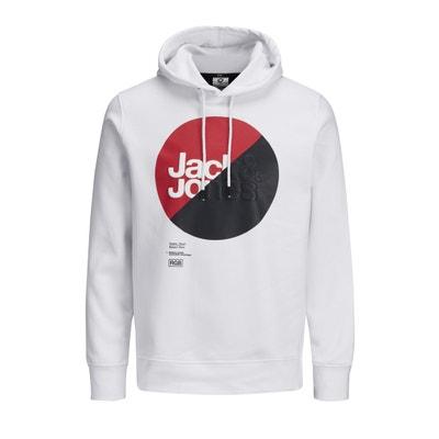 Sweater met kap en print vooraan Sweater met kap en print vooraan JACK & JONES