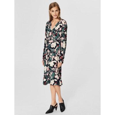 Robe mi-longue Chemise à imprimé fleuri - SELECTED FEMME 999f7add790e
