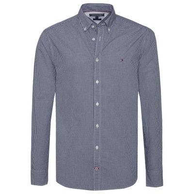 Chemise coupe droite 100% coton à carreaux Chemise coupe droite 100% coton à carreaux TOMMY HILFIGER