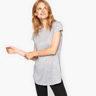 T-shirt con scollo rotondo tinta unita, maniche corte La Redoute Collections