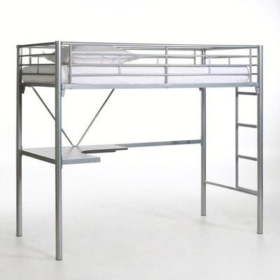 Lit mezzanine avec bureau en métal, Janik La Redoute Interieurs
