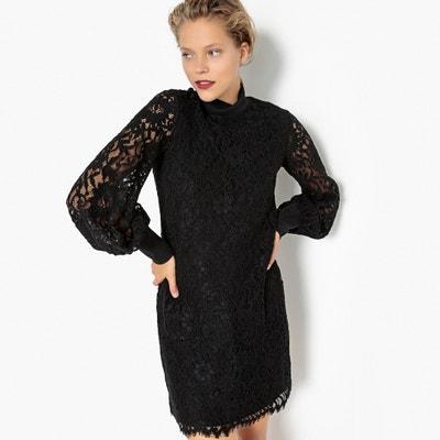 Платье из кружева с воротником-стойкой и застежкой на молнию сзади Платье из кружева с воротником-стойкой и застежкой на молнию сзади MADEMOISELLE R