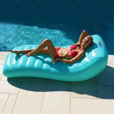 matelas de piscine gonflable lounger design bleu ciel matelas de piscine gonflable lounger design - Transat Piscine