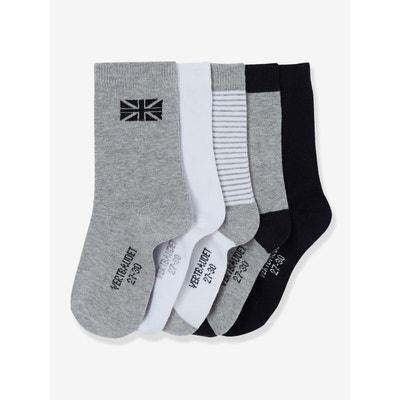 Lot de 5 paires de chaussettes garçon VERTBAUDET