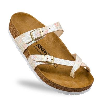 Sandálias efeito metalizado MAYARI, dupla fivela BIRKENSTOCK