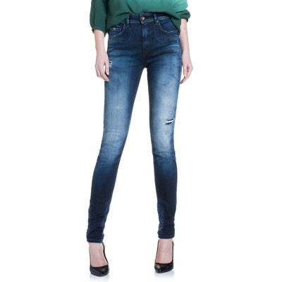 Jeans highwaist Carrie délavage premium et troué SALSA