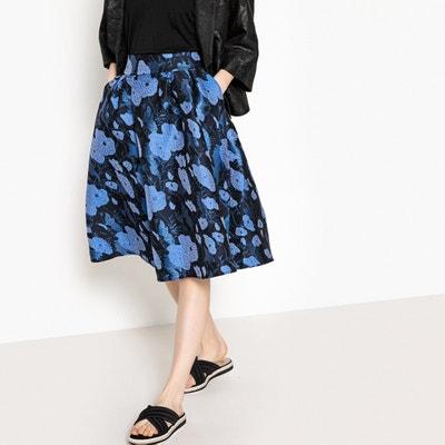 Floral Jacquard Skater Skirt Floral Jacquard Skater Skirt MADEMOISELLE R