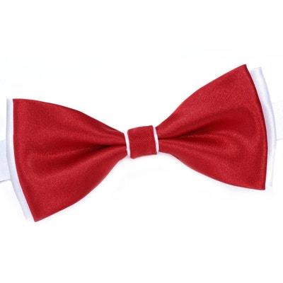 Noeud papillon BeCool Rouge sur Blanc - Fabriqué en europe Noeud papillon BeCool Rouge sur Blanc - Fabriqué en europe DANDYTOUCH