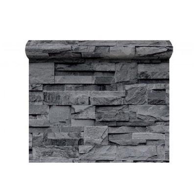 Tapisserie Effet Pierre Gris papier peint pierre en solde | la redoute