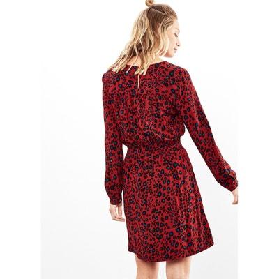Straight Short Animal-Print Dress S OLIVER