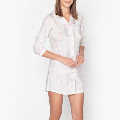 Рубашка ночная с растительным рисунком из хлопка и модала Рубашка ночная с растительным рисунком из хлопка и модала DODO