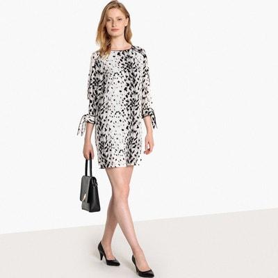 Robe imprimée léopard, poignets à nouer La Redoute Collections