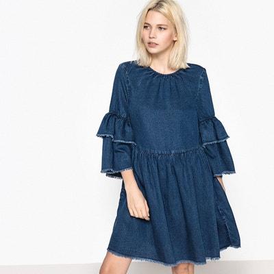 Robe en jean manche longue en solde   La Redoute 4ec9ca890e5b