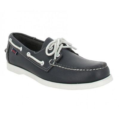 Chaussures bateaux SEBAGO Docksides velours Homme Marine + RougeSebago cTxPy