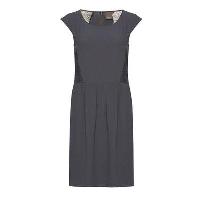 Soepele jurk met korte mouwen BLAKE Soepele jurk met korte mouwen BLAKE ICHI