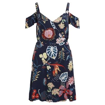 Floral Print Cold Shoulder Dress Floral Print Cold Shoulder Dress VILA