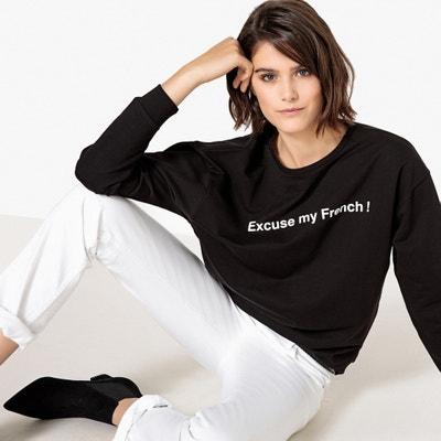 French Slogan Print Sweatshirt French Slogan Print Sweatshirt La Redoute Collections